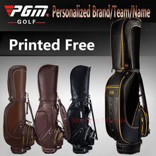 Load image into Gallery viewer, Printed Free! Full Genuine Leather Standard Bag With Cover Waterproof PU Men Golf Package High-end Personalized Brand/Team/Name