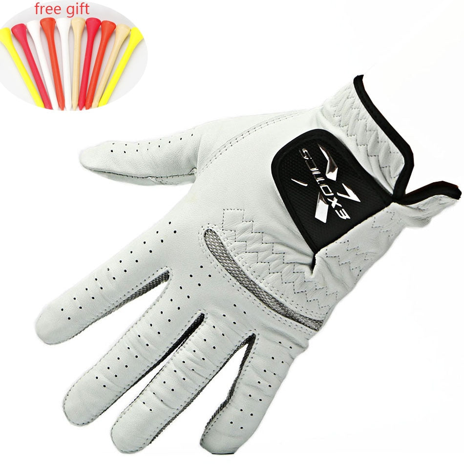 Golf gloves Men's Genuine leather Left Hand gloves Soft Breathable Pure Sheepskin gloves Outdoor sports accessories