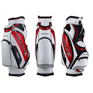 Men's Golf Cart Bag With Cover PU Waterproof  Black/Red White/Red White/Black Black/Silver striped