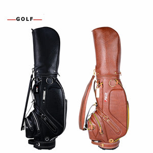PGM Golf PU Leather Bag for Men Standard Golf Waterproof Golf Club Bag Practice Training Aids Bolsa de Golf Equipments