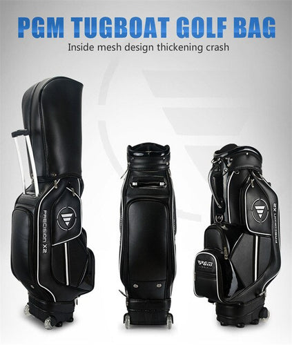 MEN'S Golf Bag Nylon Leather PU Waterproof Standard Bag Wheels 14 clubs Travel Bag 3 colors