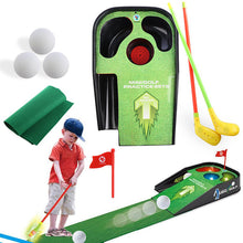 Load image into Gallery viewer, Indoor Mini Golf Set Practice Equipment Putting Green Mat Plastic Driver Golf Club Training Aids Kids Sport Trainer Accessories