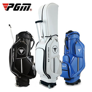 Sport Women's Men's Golf Bag 14 clubs 4 holes Waterproof PU with wheels cover 3 colors