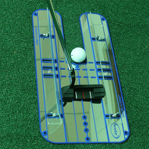 Golf Putting Alignment Mirror Golf Alignment Training Aid Lightweight Swing Practice Trainer Golf Practice Accessories B81802