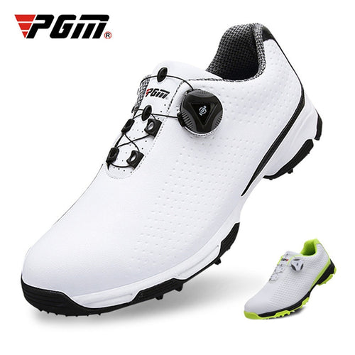Men's Golf Shoes Breathable Waterproof Rubber cotton lining Buckle 2 Sole Colors antislip XZ095