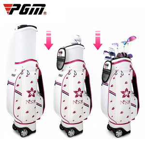 WOMEN'S Golf Bag Microfiber Waterproof Wheels Professional Bag with Cover