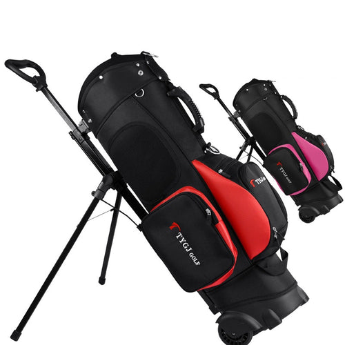 Genuine Sport Golf Cart Bag With Wheel Standard Stand Caddy Golf Cart Bag Standard Ball Travel Trolley Bags Anti-Friction D0648
