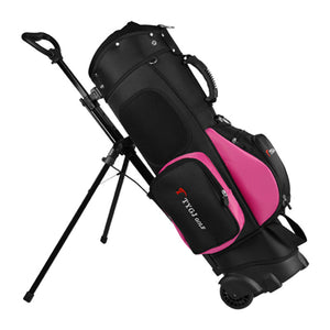 Golf Standard Stand Caddy Golf Cart Tripod Rack Bag Stuff Golf Bag Hold 13 Clubs Standard Ball Travel Trolley Bags D0648