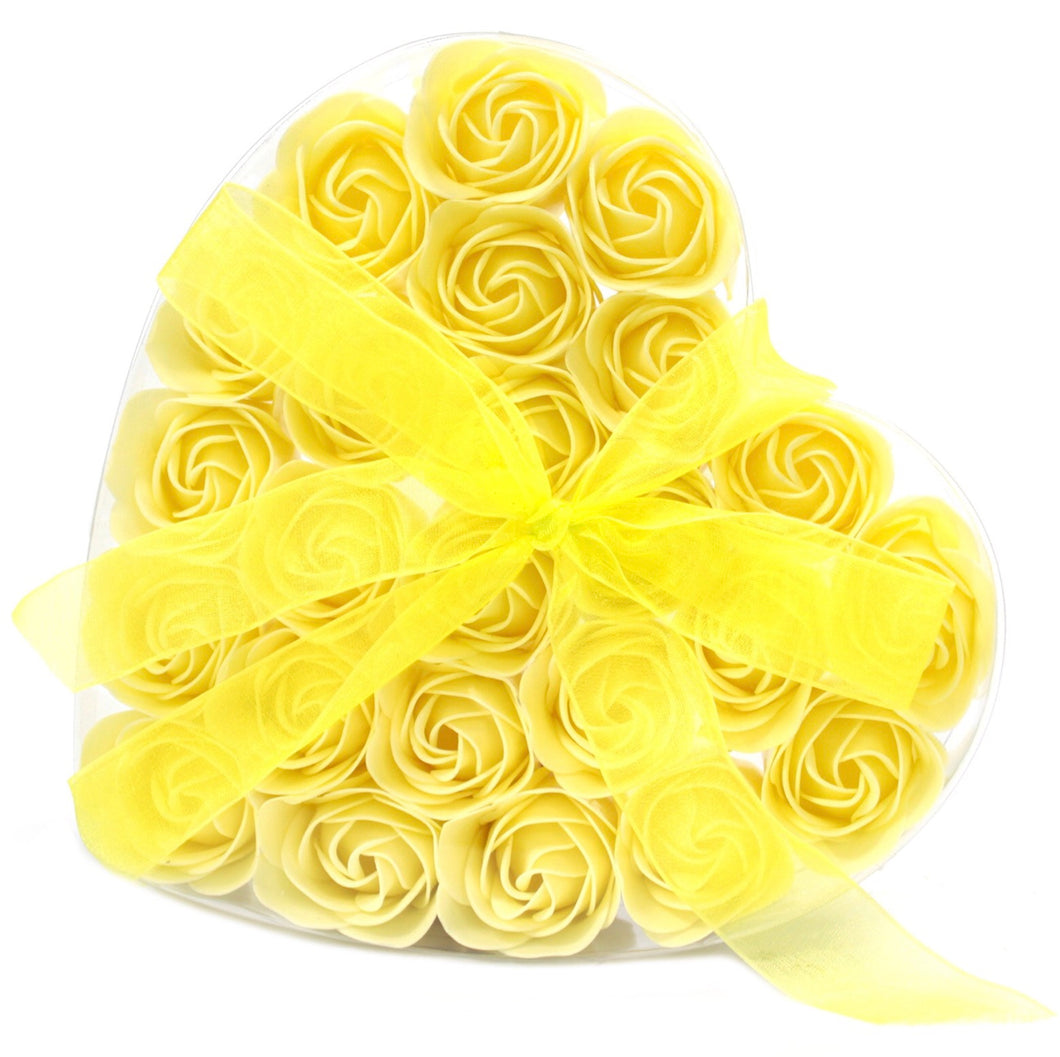 Heart Box | 24 Yellow Soap Roses