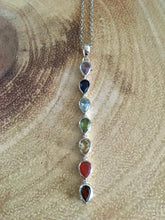 Load image into Gallery viewer, Sterling Silver Chakra Tear Drops