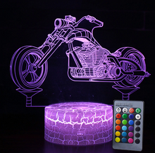 Load image into Gallery viewer, Motorcycle 3D Lamp