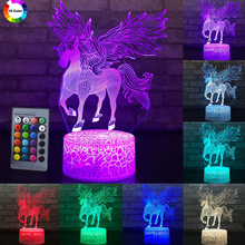 Load image into Gallery viewer, Unicorn Spread Wings 3D Lamp