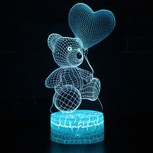 Load image into Gallery viewer, Teddybear 3D Lamp