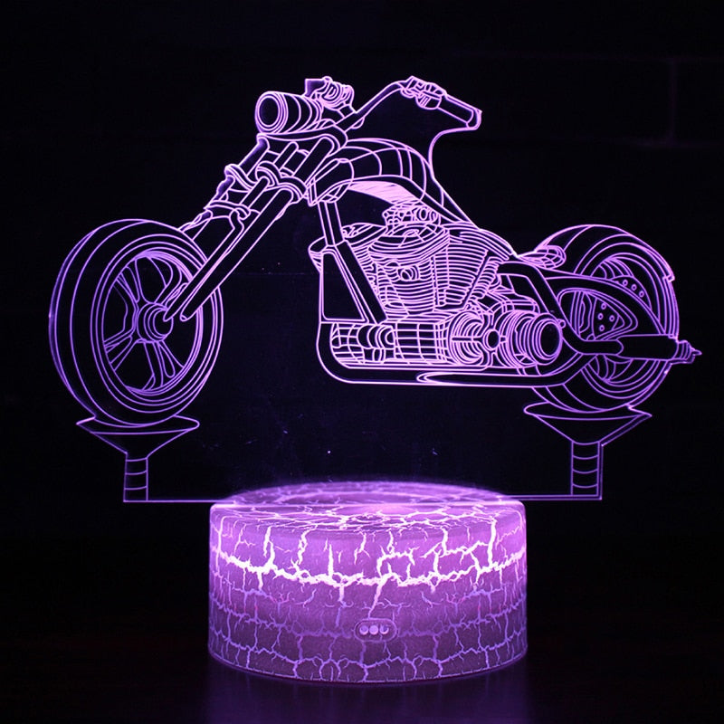 Motorcycle 3D Lamp