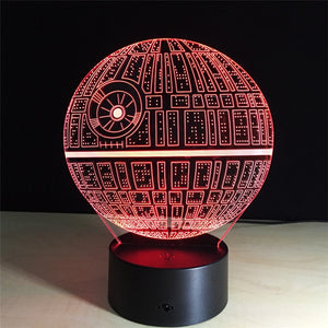 Death Star 3D Lamp
