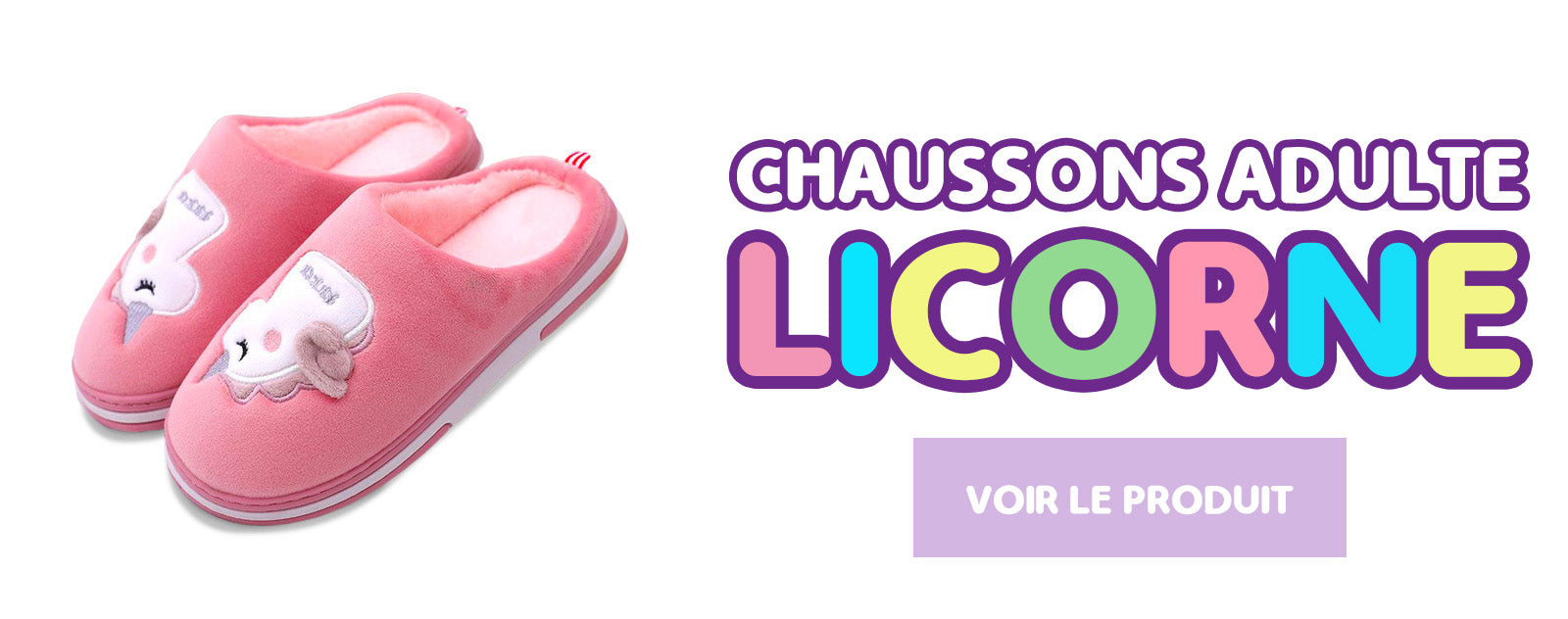 Chaussons Licorne Adulte
