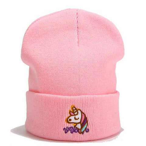Bonnet Licorne Rose