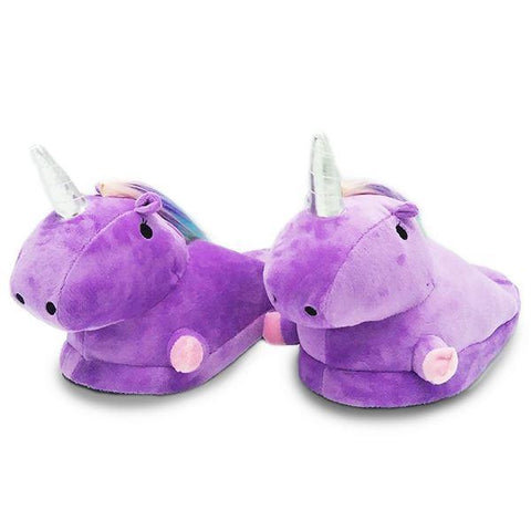 Chaussons Licorne Violet
