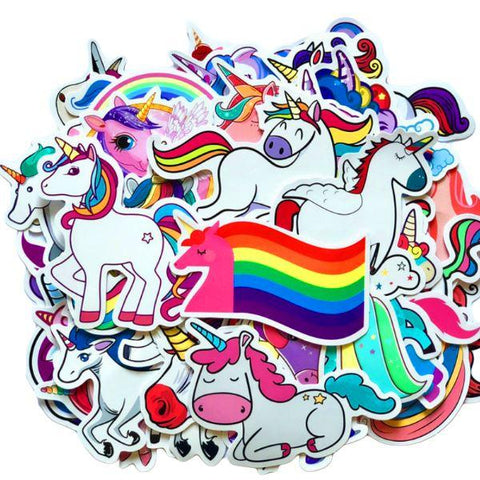 Stickers Licorne Arc-en-Ciel