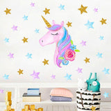 stickers licorne tete