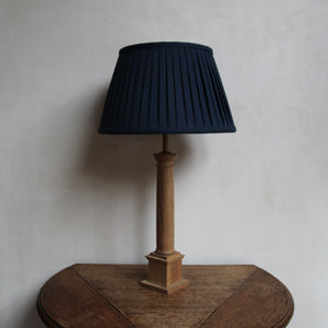 "Pleated lampshade ""Ink Blue / Chocolate"""