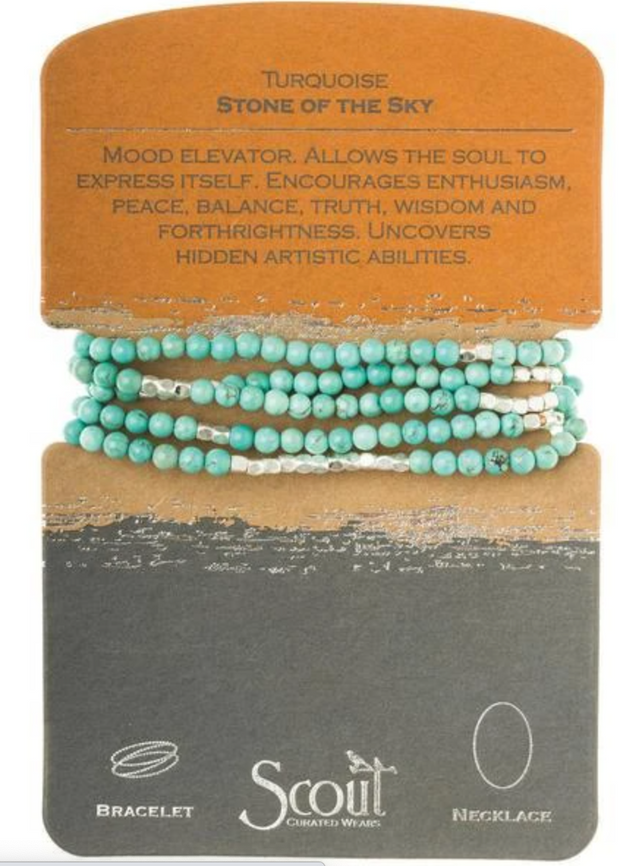 Turquoise/Silver Stone Wrap-Stone Of The Sky