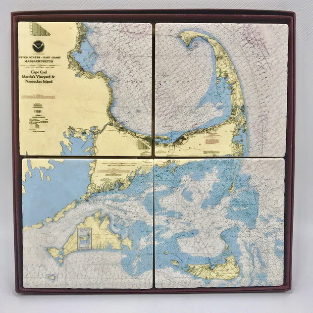Handcrafted Cape/Islands Coaster Set/4
