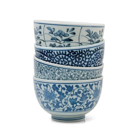 Set 4 Everyday Beautiful Blue Bowl Gift Set