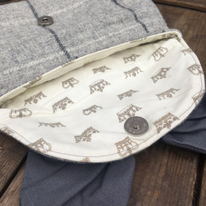 EDITH Bow Grey Clutch Bag