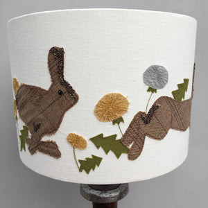 Leaping Hares Lampshade