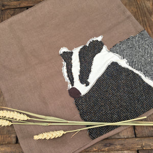 BARNABY Badger Cushion Cover