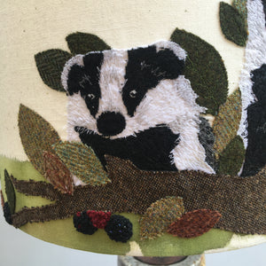 Badgers in blackberries Lampshade