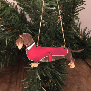 Rupert the wire haired Dachshund Decoration
