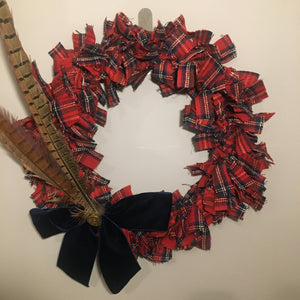 Tartan Christmas Wreath