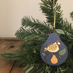 Partridge in a pear tree decoration