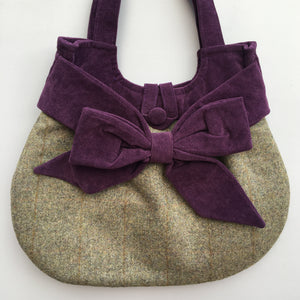 GRACIE Country Tweed Bow Bag