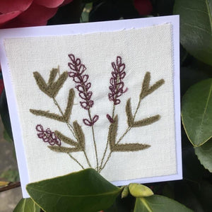 Lavender Stitched Card