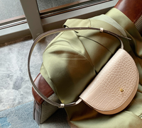 Croc Saddle Shoulder Bag 鱷魚紋馬鞍形腋下包