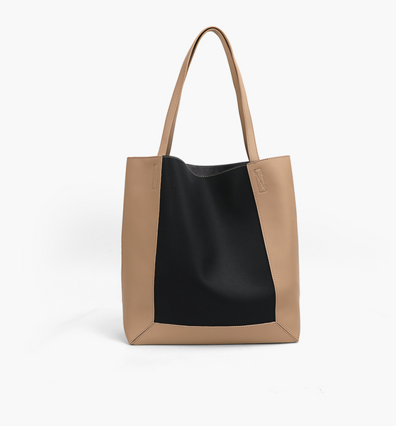 Basic Colorblock Shopper Bag 拼色百搭Shopper Bag