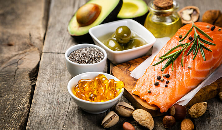 Omega 3 foods, fish, nuts, seeds and oils