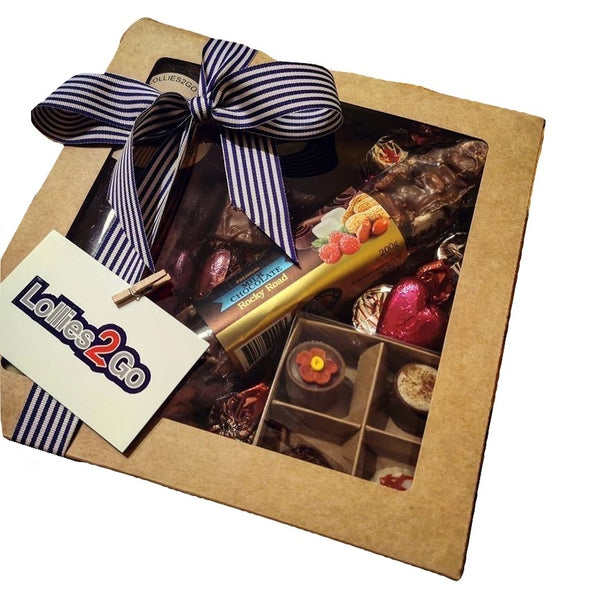 Mixed Chocolate & Lollies Gift Box - FATHER'S DAY DELIVERY