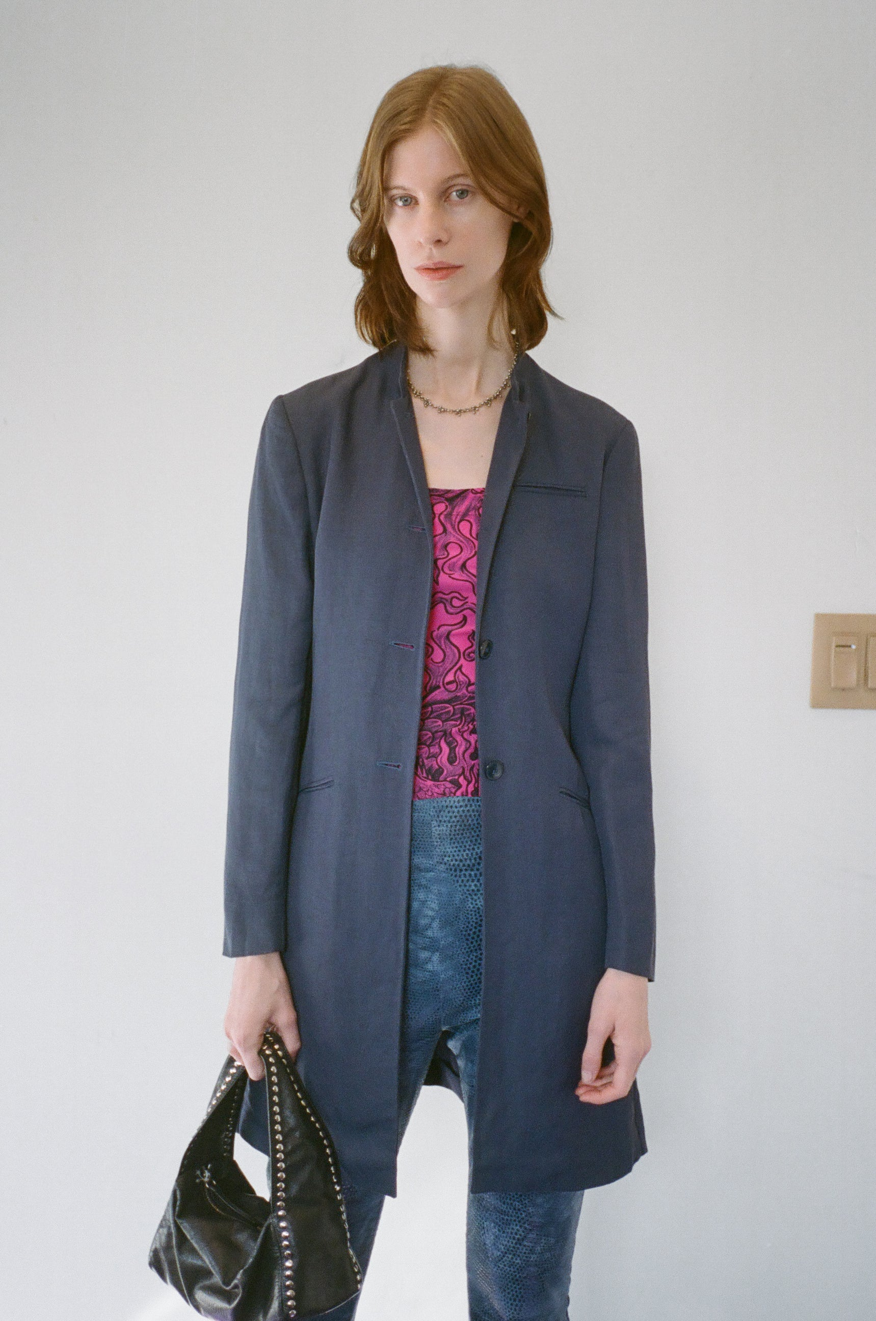 Miu Miu Navy Jacket IT40