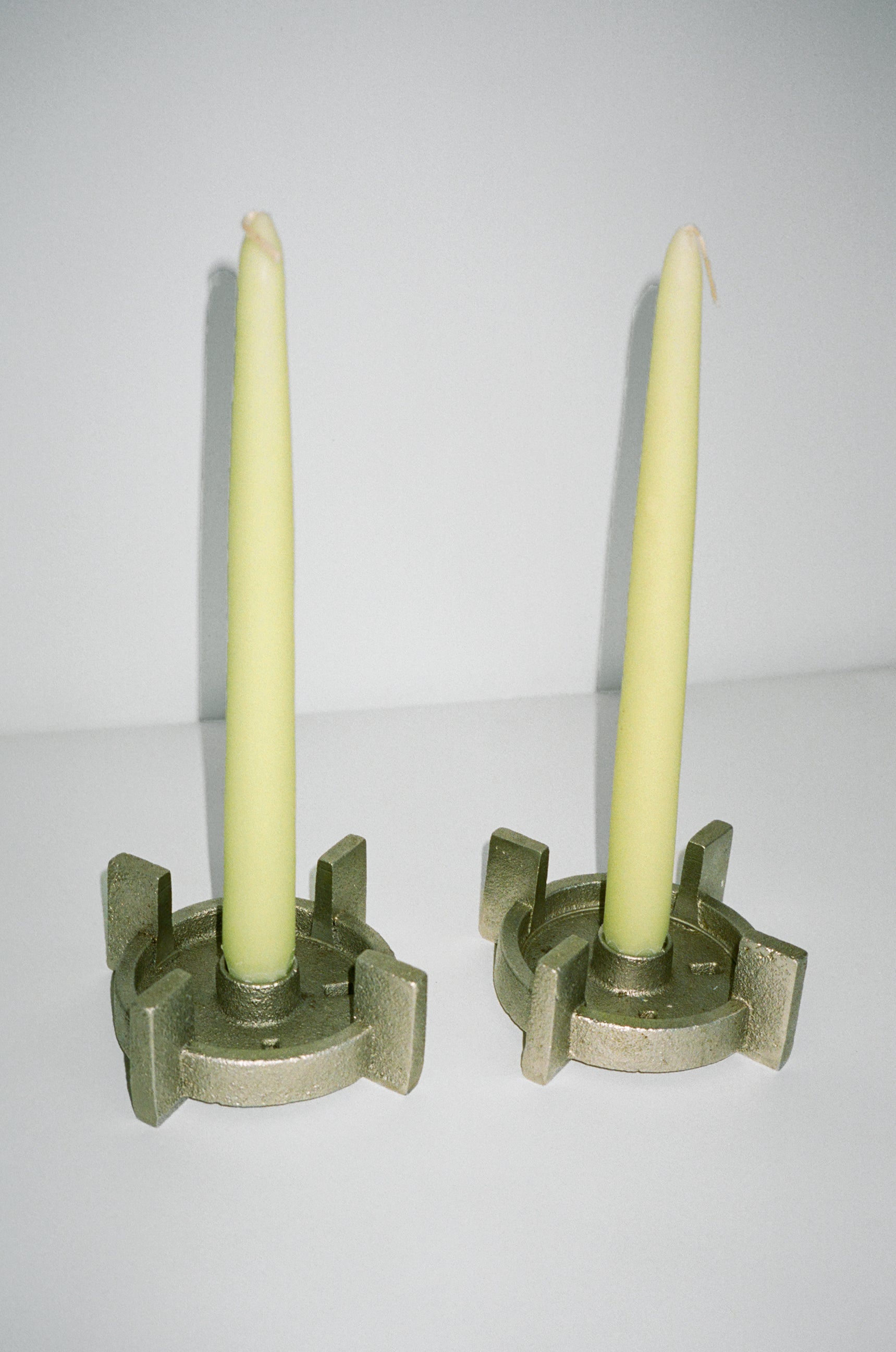 Cast Iron Candle Holders