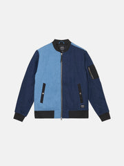BOMBER BLOCKED DENIM JACKET