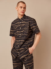 Oden Abstract Waves S/S Shirt