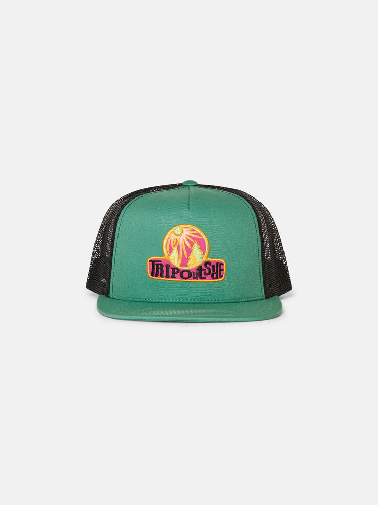 Trip Outside Applique Skater Mesh Back Hat
