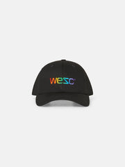 Rainbow Embroidered Logo Baseball Hat