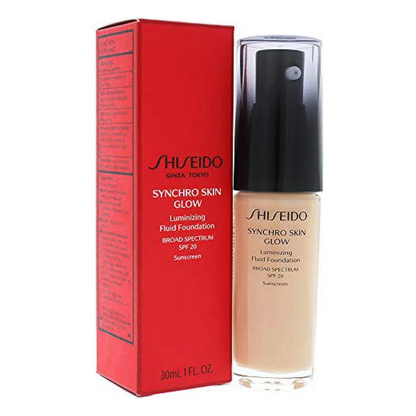Flydende makeup foundation Skin Glow Shiseido SPF20 (30 Ml)