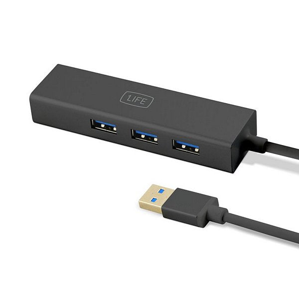 3-Port USB Hub 1LIFE 1IFEUSBHUB3 USB 3.0 Sort