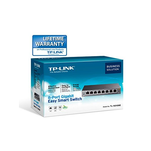 Desktop Switch TP-LINK Easy Smart TL-SG108E 8P Gigabit